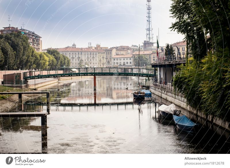 Milano Porto Genova I Italy Town Old town House (Residential Structure) Bridge Building Architecture Vacation & Travel Channel Water Promenade Harbour Jetty