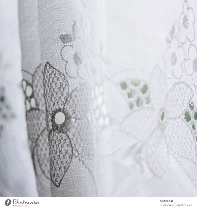 White Flower Window Bright Flat (apartment) Living or residing Cloth Decoration Kitsch Lace Curtain Vail Old fashioned Odds and ends Cloth pattern