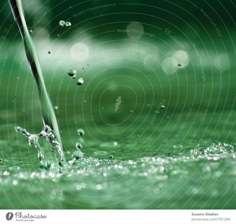 Water Green Well Lake Coast Waves Wet River Drops of water Fluid Damp Pond River bank Waterfall Inject