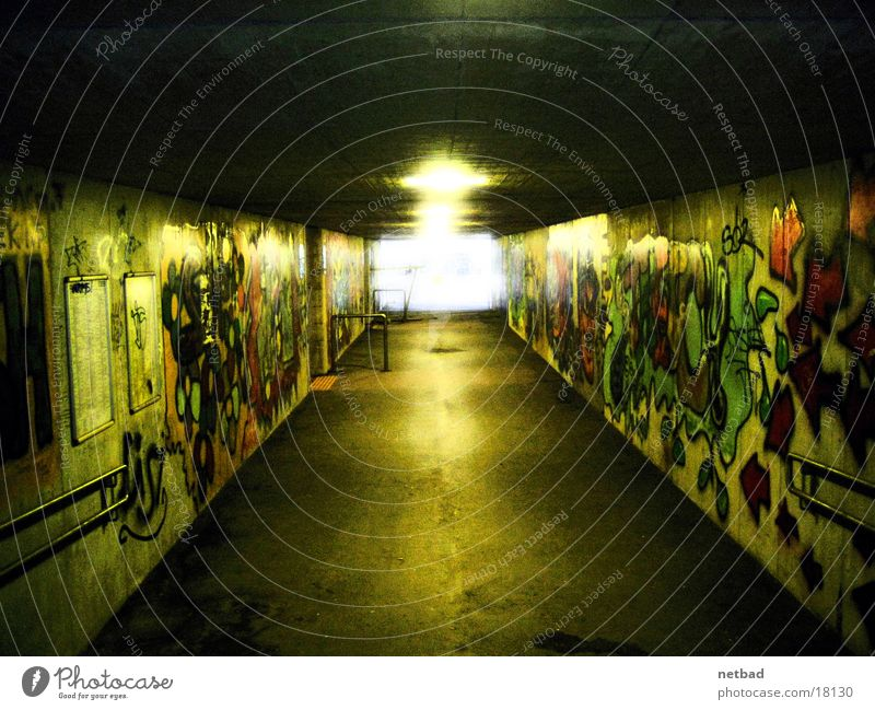 Dark Graffiti Art Tagger Underpass