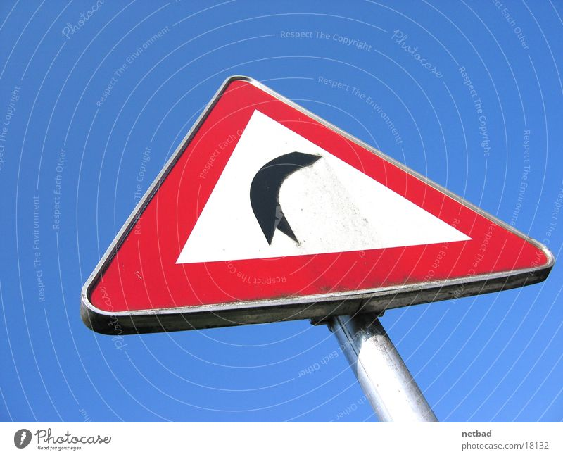right-hand bend Road sign Transport Things Curve Respect