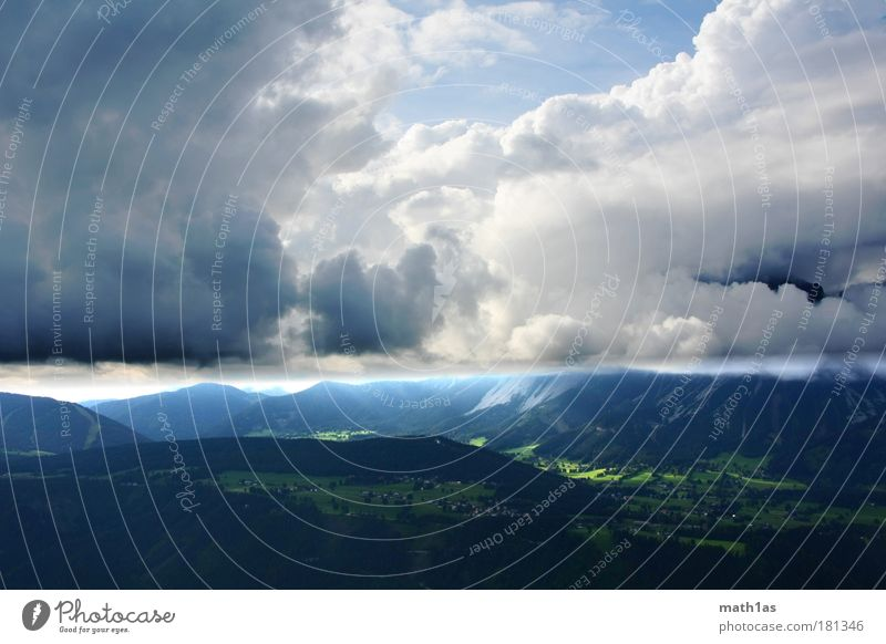 Nature Sky Green Blue Clouds Forest Mountain Landscape Moody Future