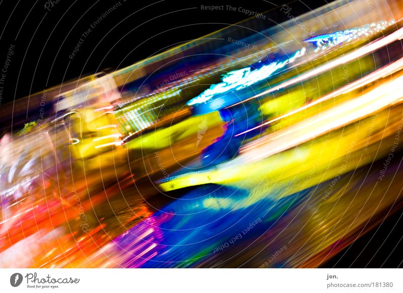 Party Night Art Happiness Motion blur Good Blur Light Shows Carnival Event Friendliness Fairs & Carnivals Multicoloured Entertainment Night life