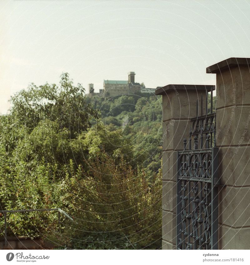 Wartburg Castle Colour photo Exterior shot Detail Deserted Copy Space left Copy Space top Day Shadow Contrast Shallow depth of field Central perspective