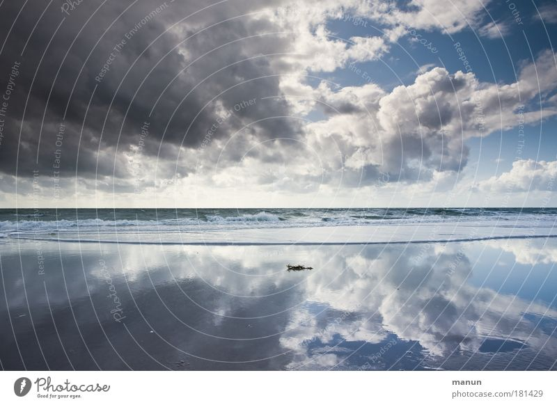 Nature Sky Ocean Summer Beach Vacation & Travel Calm Clouds Far-off places Life Relaxation Autumn Freedom Landscape Reflection Wind