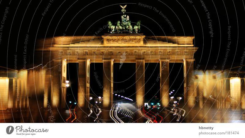 Berlin Moody Power Architecture Germany Night Might Gate Monument Landmark Tourist Attraction Brandenburg Gate