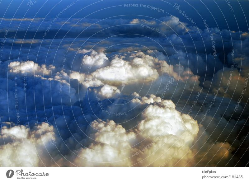 at the top. Colour photo Copy Space top Elements Air Sky Sky only Clouds Storm clouds Night sky Sunrise Sunset Climate Climate change Weather