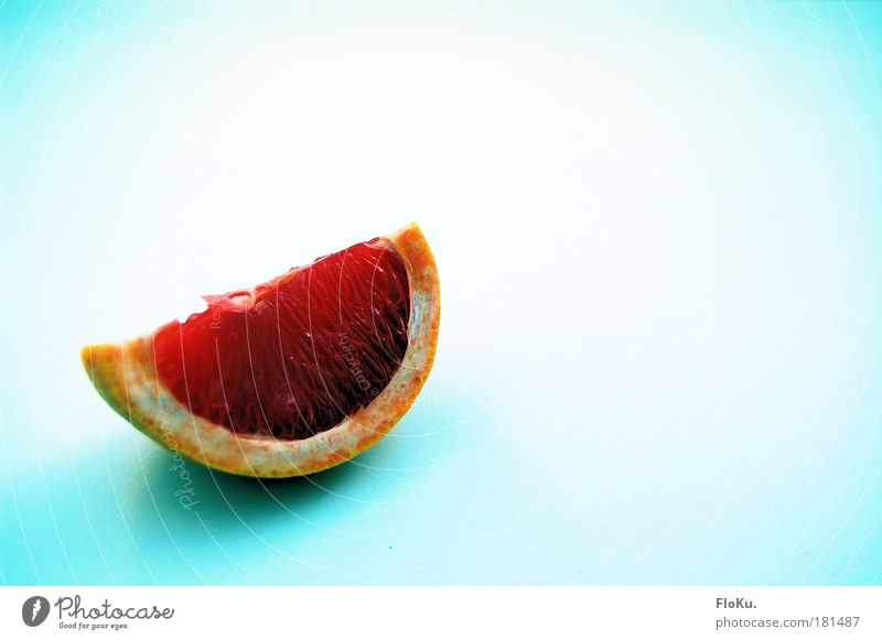 Breakfast II Colour photo Copy Space right Copy Space top Food Fruit Nutrition Healthy Delicious Sour Blue Pink Red White Grapefruit Slice Citrus fruits Orange