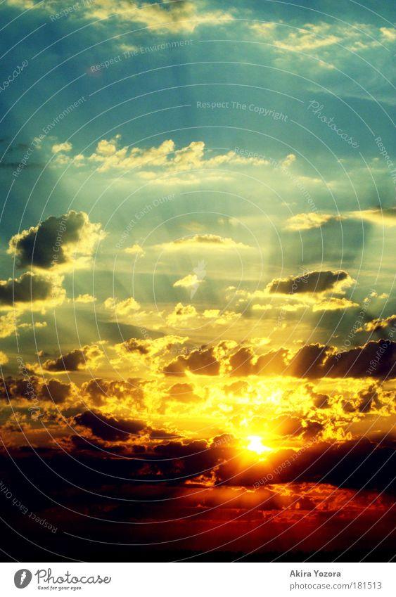 Sky Sun Blue Red Black Clouds Yellow Sunrise Sunset Horizon Warm-heartedness Illuminate Light
