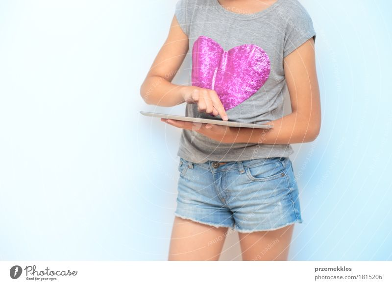 Close shot of girl using a mobile device Human being Youth (Young adults) Girl Lifestyle School 13 - 18 years Success Heart Academic studies Education University & College student Mobility Workplace Notebook Horizontal Smart