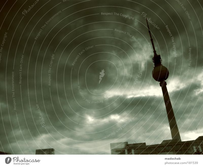 City Berlin Emotions Sadness Moody Architecture Environment Grief Dangerous Future Tower Climate Gale Skyline Stress