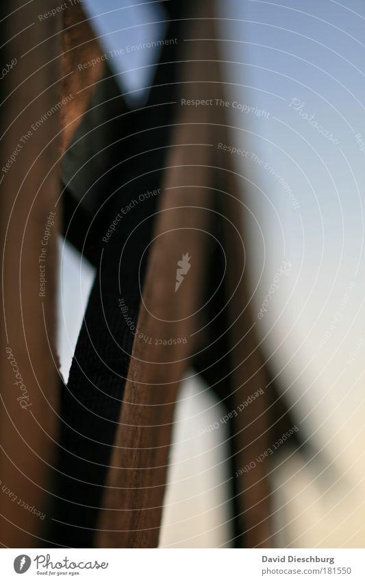 Sky Blue Line Brown Tilt Diagonal Wooden board Section of image Direct