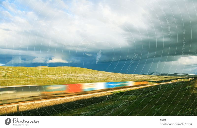 Sky Vacation & Travel Clouds Landscape Environment Meadow Movement Weather Energy industry Speed Perspective Railroad Change Logistics Hill Infinity