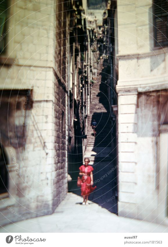 To go for a walk Lady Narrow Alley Sightseeing Old town Mediterranean Nightmare Liquid