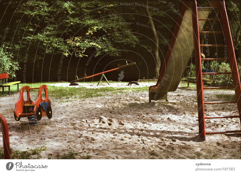 gaming fun Colour photo Exterior shot Detail Deserted Copy Space bottom Day Light Shadow Contrast Central perspective Kindergarten Infancy Environment Nature