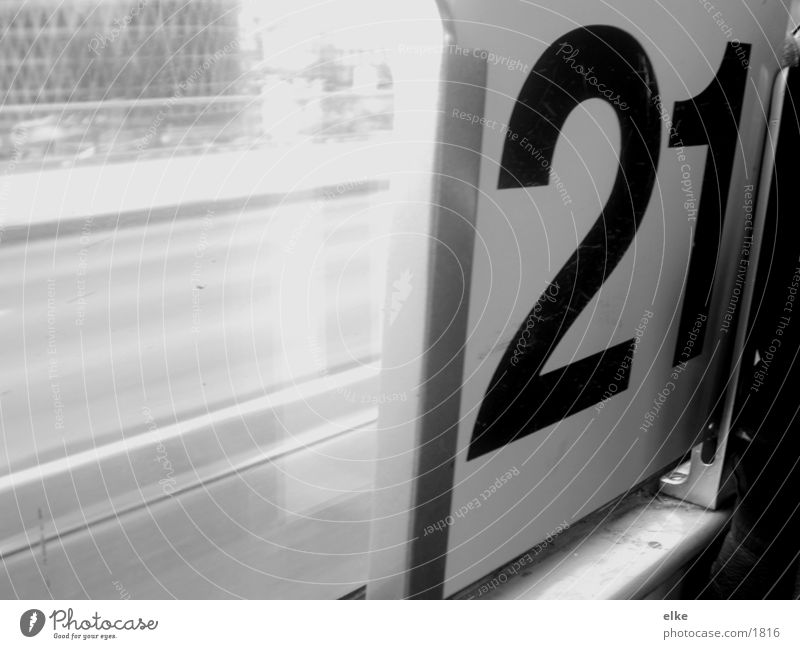 21 Digits and numbers Tram Photographic technology Street Black & white photo