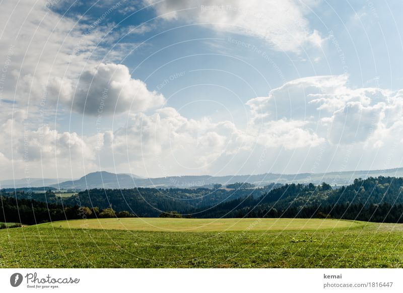 Sky Nature Plant Blue Green Landscape Relaxation Clouds Calm Far-off places Forest Mountain Environment Life Autumn Freedom
