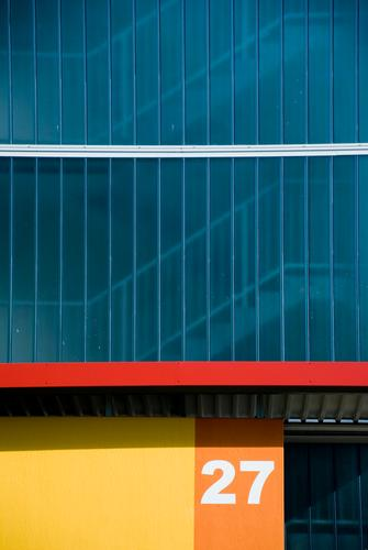 Blue White Red House (Residential Structure) Colour Yellow Wall (building) Architecture Building Wall (barrier) Line Orange Glass Flat (apartment) Facade