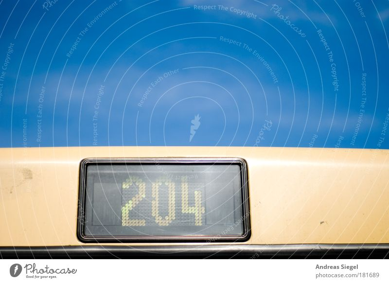 204 Colour photo Exterior shot Detail Deserted Copy Space top Day Light Sunlight Sky Cloudless sky Beautiful weather Transport Means of transport