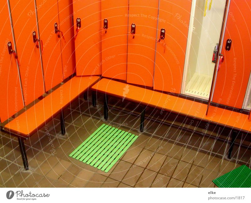 dress Green Seventies Floor mat Cupboard Key Photographic technology Orange Door