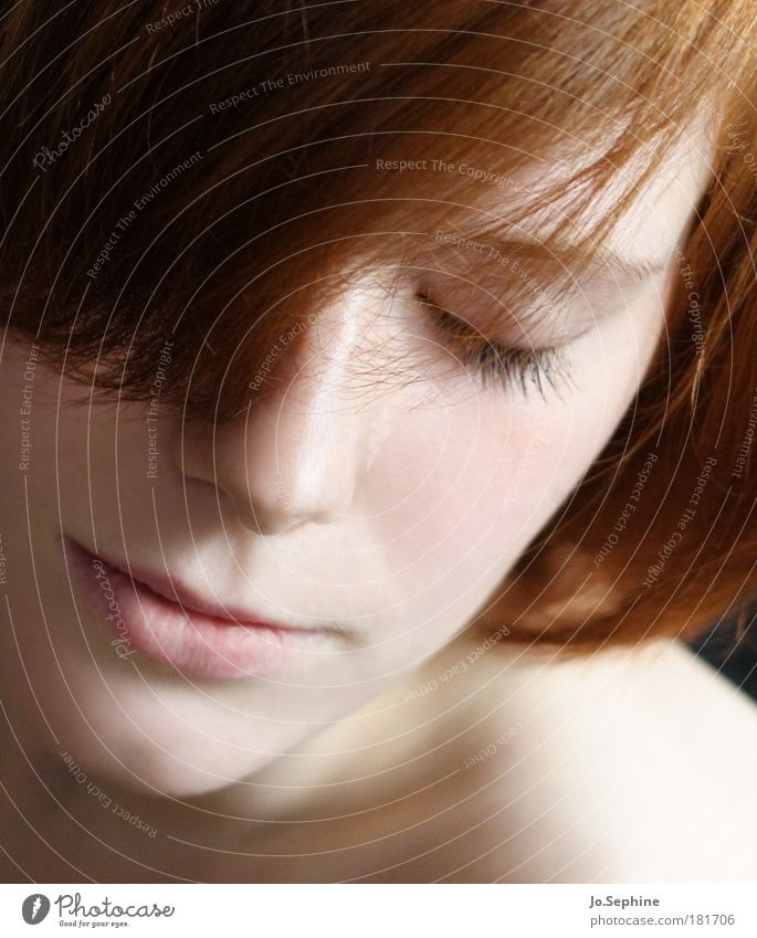 senses Beautiful Senses Relaxation Meditation Feminine Young woman Youth (Young adults) Head Face 18 - 30 years Adults Red-haired To enjoy Dream Soft Emotions