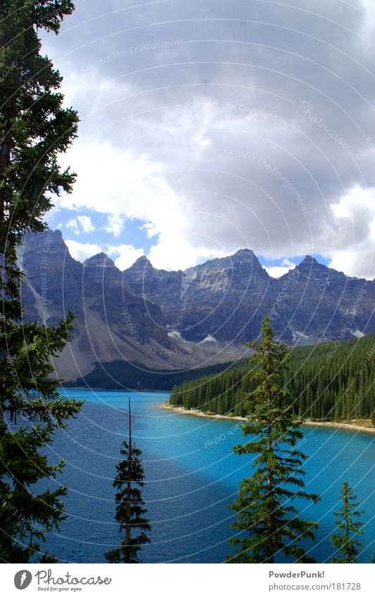 Nature Blue Water Green White Clouds Landscape Far-off places Environment Mountain Autumn Happy Lake Earth Rock Wild