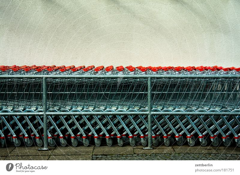 Markets Metal Store premises Metalware Fantastic Steel Row Parking lot Grating Copy Space Queue Supermarket Shopping Trolley Consumption Avaricious Meandering