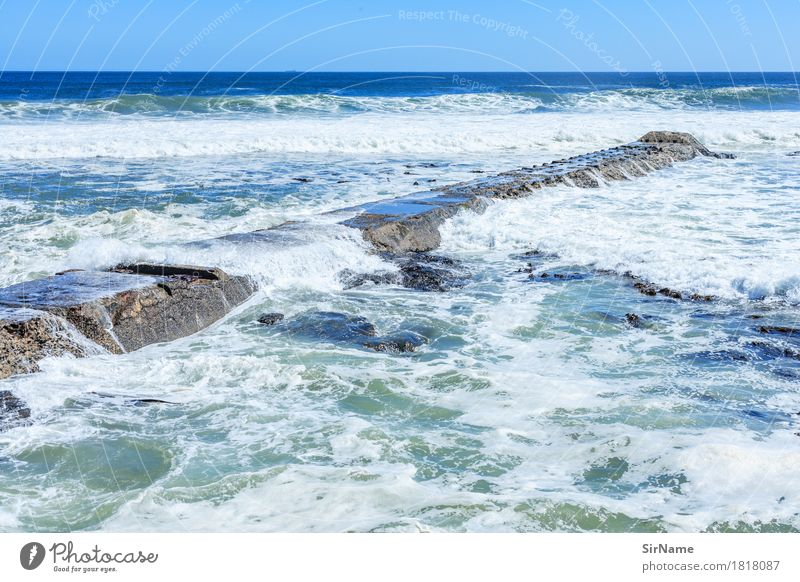 Blue Summer Water White Ocean Far-off places Environment Lanes & trails Coast Time Gray Line Horizon Waves Large Wet