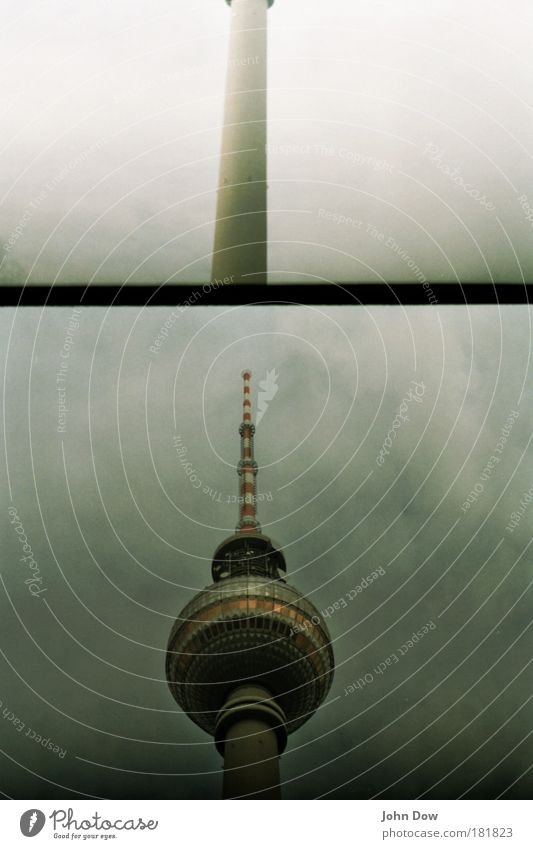 Clouds Berlin Architecture Exceptional Tower Round Retro Communicate Manmade structures Sphere Landmark Tourist Attraction Sightseeing Berlin TV Tower Television tower