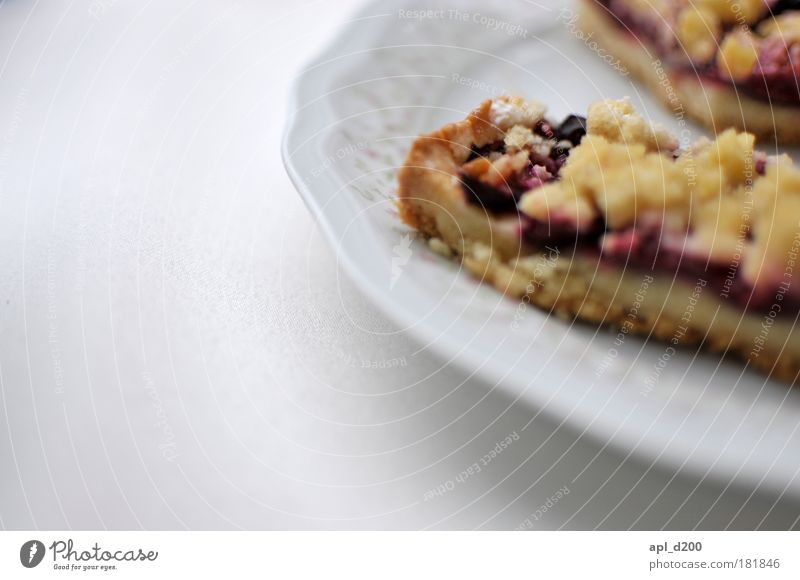 daintily Colour photo Subdued colour Exterior shot Close-up Detail Copy Space left Neutral Background Day Shallow depth of field Food Fruit Cake Dessert