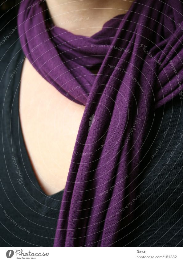 Human being Woman Black Adults Feminine Fashion Skin Clothing Soft Violet Top Sweater Scarf Rag Accessory