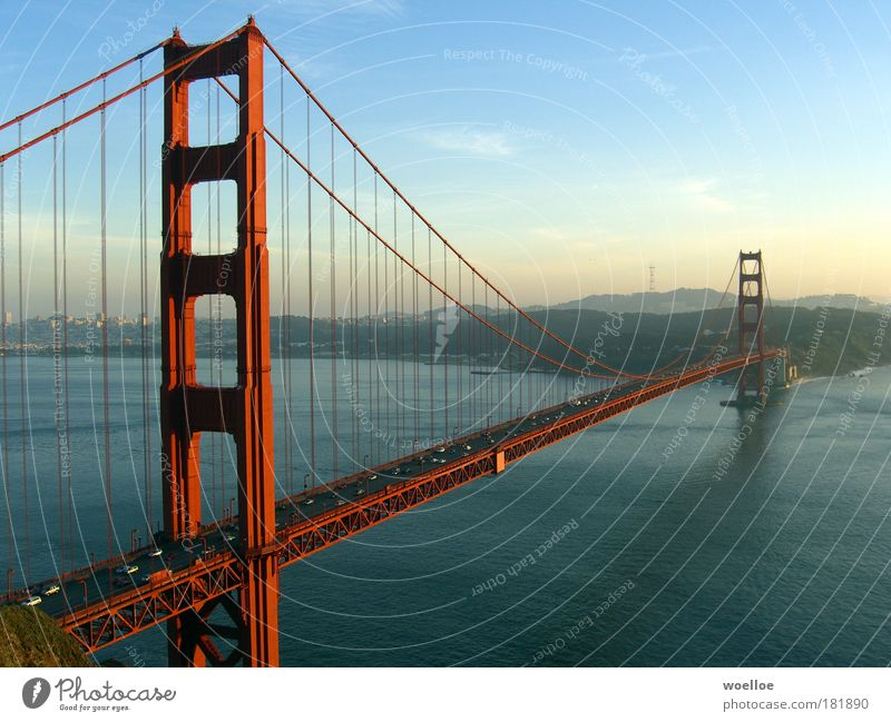 Sky Water Blue Ocean Street Landscape Architecture California Coast Car Tall Esthetic Bridge USA Manmade structures Hill
