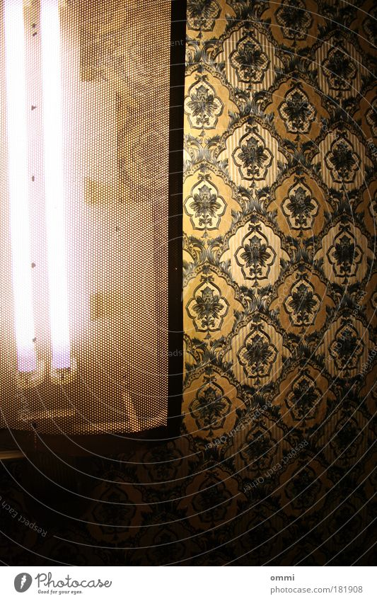 Black Dark Lamp Bright Lighting Gold Elegant Exceptional Retro Luxury Wallpaper Converse Neon light Flashy Old fashioned Wallpaper pattern