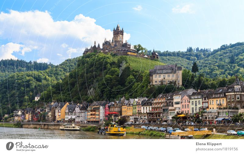 Cochem on the Moselle Germany Eifel Rhineland-Palatinate Village Small Town Old town Populated Castle Tower Manmade structures Building Architecture