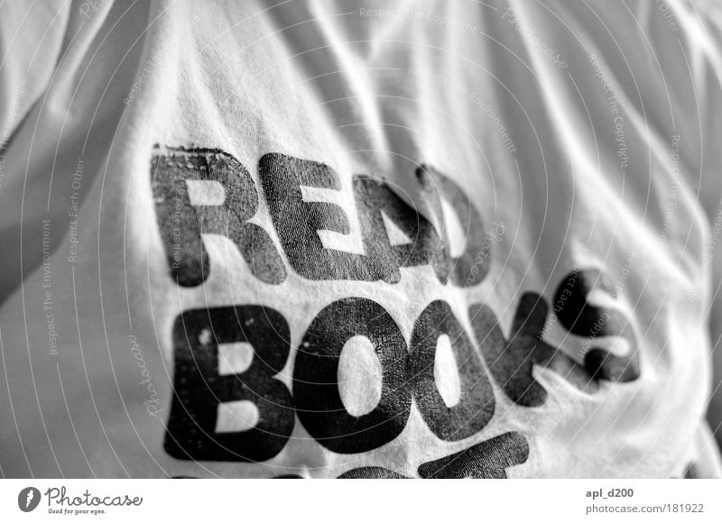 bookworm Black & white photo Interior shot Copy Space top Day Shallow depth of field Upper body Human being Masculine Chest 1 Media Book Carrying Esthetic