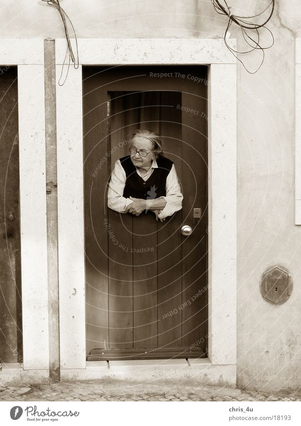 old lady Portugal Lisbon Characteristic Woman District Alfama