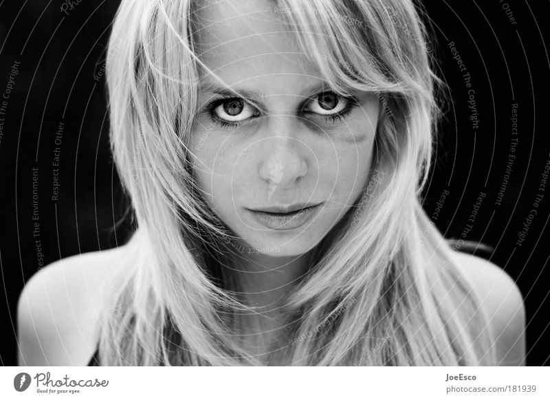 black eyed beauty 02 Black & white photo Shallow depth of field Portrait photograph Looking Looking into the camera Martial arts Sportsperson Feminine Woman
