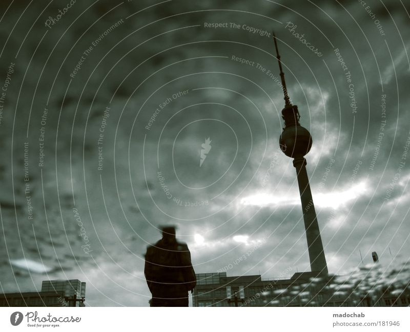 Man City Winter Adults Loneliness Autumn Life Death Berlin Senior citizen Sadness Fear Poverty Climate Night Grief