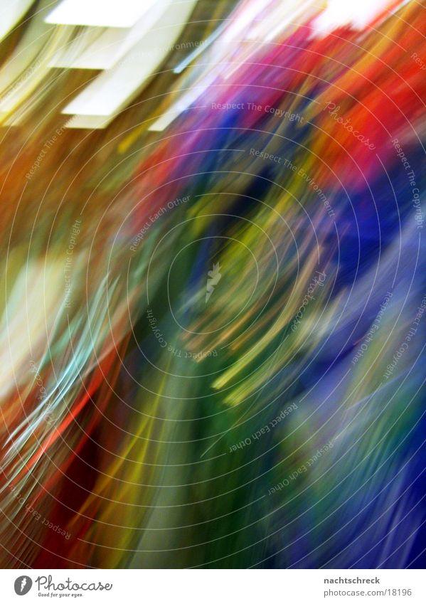 Blurred beverage market Multicoloured Light Stripe Haste Long exposure Colour smudged Movement deposit boxes