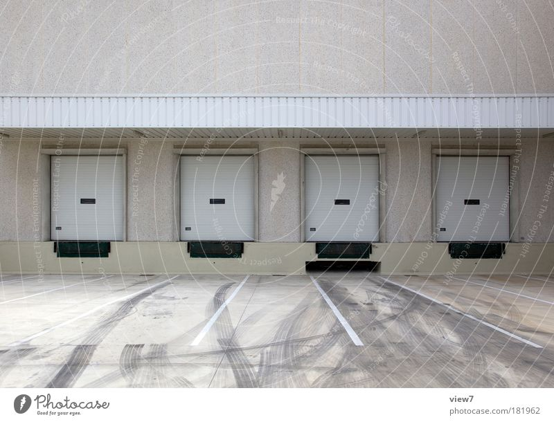 House (Residential Structure) Street Wall (building) Gray Stone Wall (barrier) Line Door Dirty Facade Concrete Arrangement Places Transport Stripe Break