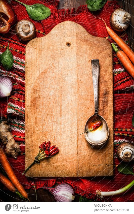Dish Background picture Style Food Party Design Nutrition Retro Empty Herbs and spices Kitchen Vegetable Restaurant Tradition Crockery Chopping board