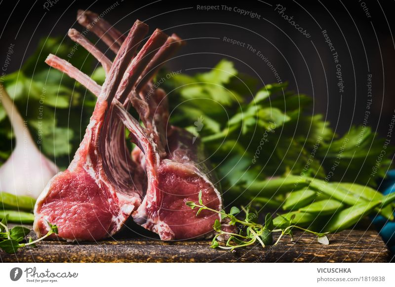 Healthy Eating Dark Food photograph Style Design Nutrition Table Herbs and spices Kitchen Vegetable Organic produce Meat Dinner Lunch Banquet