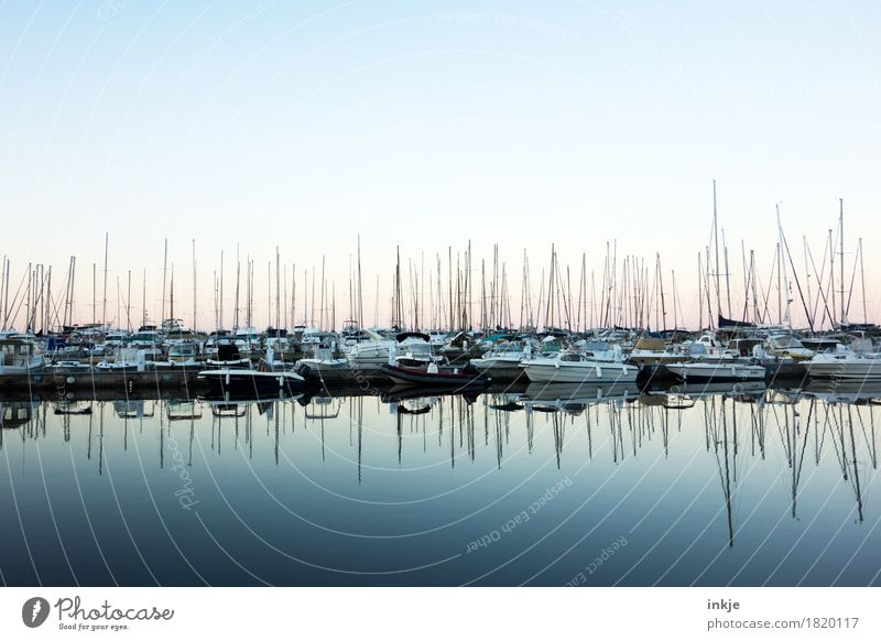 Corsican port Ocean Navigation Fishing boat Sport boats Yacht Motorboat Sailboat Harbour Yacht harbour Maritime Blue Mast Calm Smoothness Horizontal