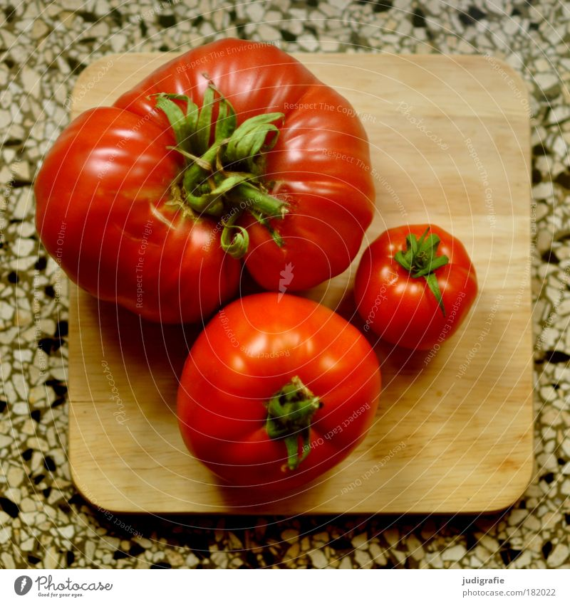 Red Nutrition Contentment Healthy Small Food Large Round Uniqueness Vegetable Delicious To enjoy Tomato Chopping board Organic produce Quality