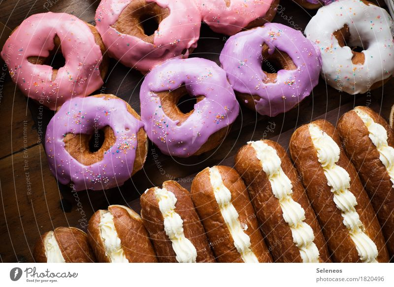 Eating Food Nutrition To enjoy Sweet Candy Overweight Cake Dessert Baked goods Sugar Dough Donut Dairy Products Gluttony Debauchery