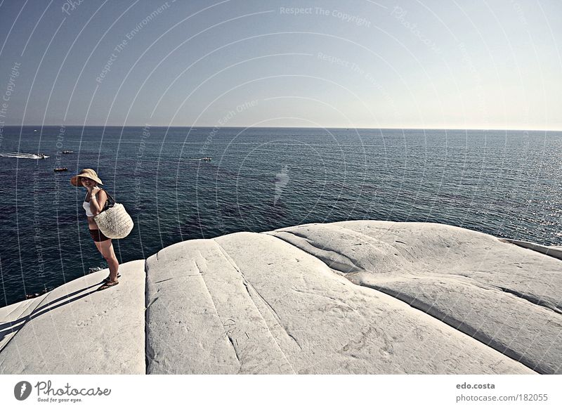 |Sicily|#1| Human being Nature Blue Water White Beautiful Ocean Summer Adults Feminine Environment Landscape Stone Coast Waves Horizon