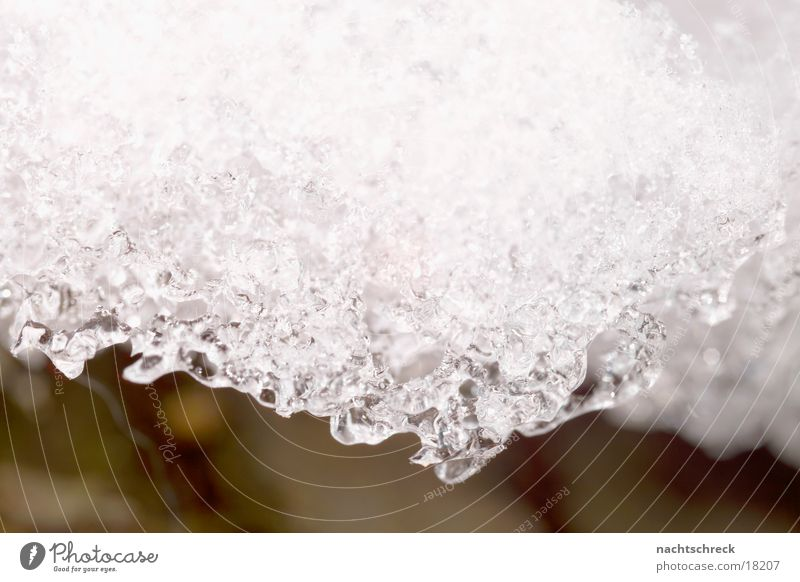 melting of snow Winter White Snow Ice Water Macro (Extreme close-up) Crystal structure Drops of water