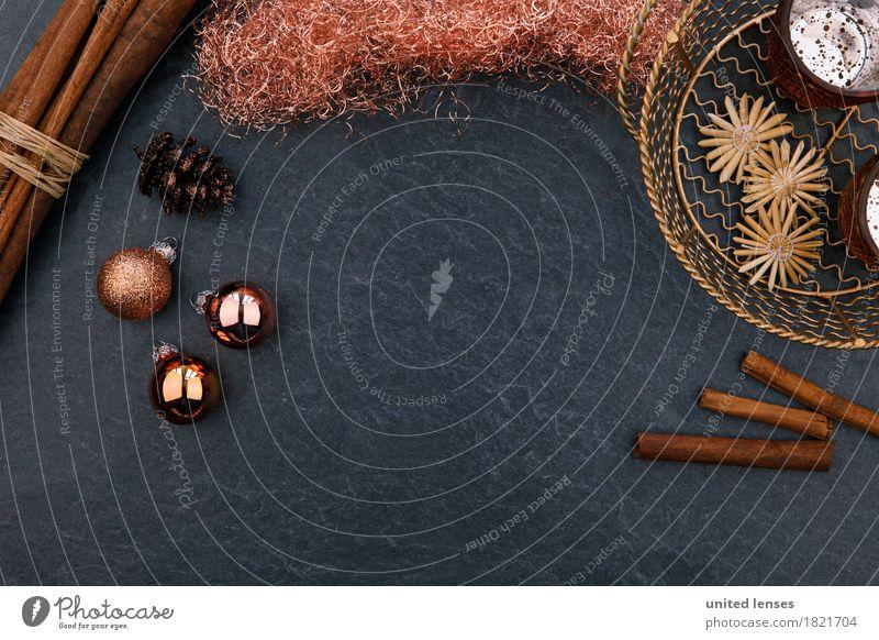 Christmas & Advent Art Design Decoration Esthetic Card Anticipation Glitter Ball Basket December Slate Cinnamon Cone