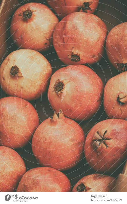 What grenades? Food Fruit Nutrition Eating Pomegranate Tree of knowledge Apple harvest Exotic Colour photo Day Many Round