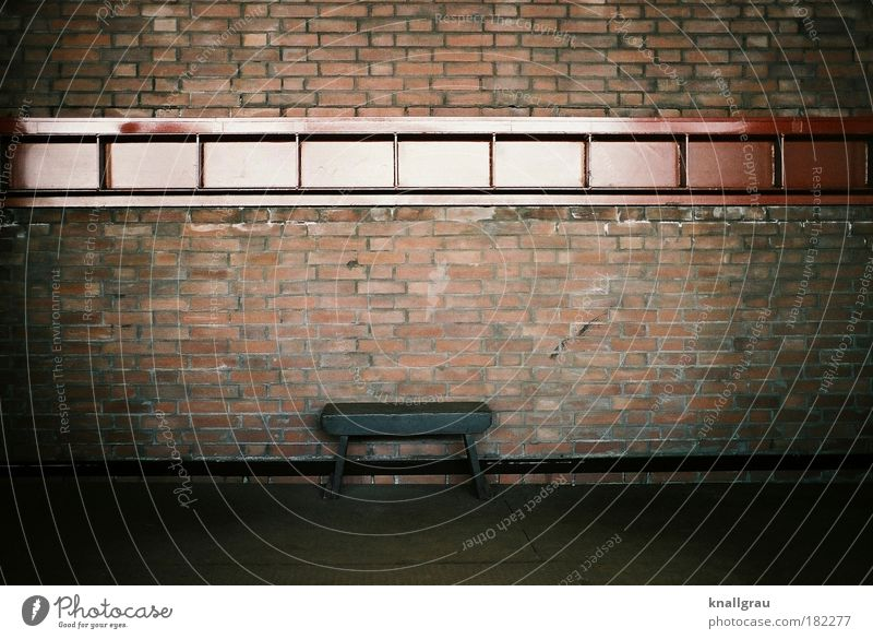 A secure bank Bench Financial institution Industry Industrial Photography Wall (building) Wall (barrier) Stool Financial Crisis Safety sense crisis Empty